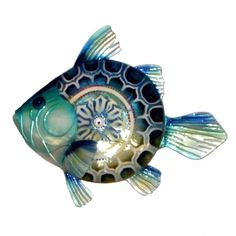 Purchase Eangee Home Design Indoor/Outdoor Blue Fish Metal Wall Decoration from WhinyCat on OpenSky. Fish Wall Decor, Fish Wall Art, Metal Wall Decor, Metal Wall Art, Wall Art Decor, Metal Fish, New Wall, Wall Sculptures, Metal Walls