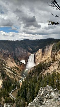 """forest-nation: """" Breathtaking lower falls in the Grand Canyon of Yellowstone by mk_alien """""""