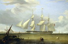 """The East Indiaman """"Prince of Wales"""" , 1845"""