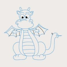 How to Draw a Dragon Drawing Lessons For Kids, Art Lessons, Doodle Drawings, Animal Drawings, Colouring Pages, Coloring Books, Kids Coloring, Cartoon Dragon, Dragon Coloring Page