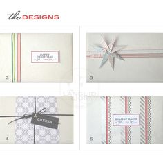 5 ways to gift-wrap this year, using ribbon, washi tape, paper & a few free printable gift tags!