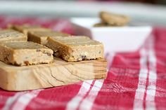 Almost Raw Peanut Butter Chocolate Chip Cookie Dough Bars