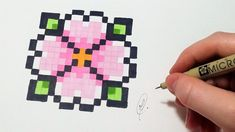 pixel art facile | Pixel art Fleur (FACILE) - YouTube