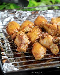 Glazed Garlic Chicken Wings with honey
