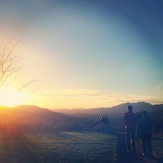 Image by Yoga Chapel. The sun setting on #Meditation #Mount in #Ojai www.yogachapel.com