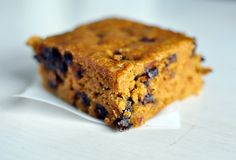 Pumpkin Blondies with Chocolate Chips - Mel's Kitchen Cafe