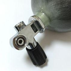 Precio competitivo 6.8L Paintball Cilindro Utilizado Para PCP Pistola de Aire Con Válvula De Buceo