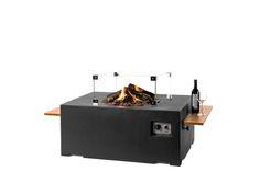 Prachtig deze sfeervolle zwarte vuurtafel. Voor meerdere varianten en kleuren; www.vuur-tafels.nl