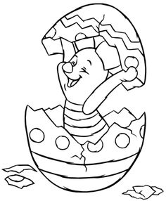 Free Print out Piglet Hatching from Easter Egg Coloring Pages for kids.easter worksheet ideas for kids.free online easter cartoon coloring pages for kids. Easter Egg Coloring Pages, Halloween Coloring Pages, Coloring Pages For Boys, Cartoon Coloring Pages, Disney Coloring Pages, Coloring Pages To Print, Colouring Pages, Coloring Books, Kids Coloring