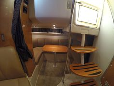 Mid Cabin Seating area which convert to a double sleeper.