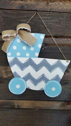 Baby carriage door/wall hanger