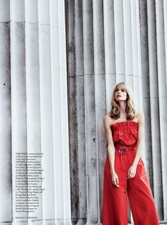 Julia Stegner graces the pages of Harper's Bazaar UK's April 2017 issue. The German model looks red-hot in crimson styles from the spring collections. Photographed by Regan Cameron, Julia stands out from a grey backdrop in the colorful ensembles. Fashion editor Miranda Almond selects a mix of embellished gowns, elegant separates and silk dresses for …