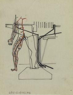 "L'œuvre Dessin illustratif ""Métaphore anthropomorphique"" - Centre Pompidou"