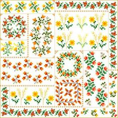 Autumn Quilt Square - cross stitch pattern designed by Cathy Bussi. Category: Quilts.