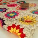 Manta para bebé a crochet Mil colores