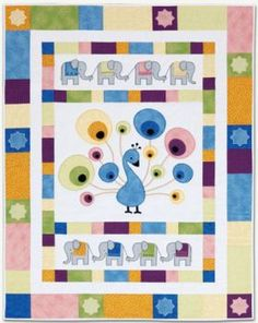 baby peacock quilt pattern for sale