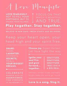 A love manifesto.