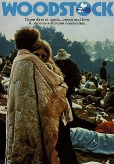 Woodstock 1969...the couple in this image is actually still together. :)
