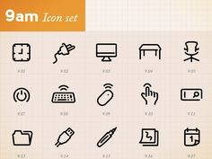 Minimal Icons by hour (9am)  by Joe Harrison