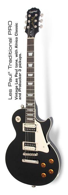 Epiphone Ltd Ed Les Paul Traditional Pro Pitch Black #epiphone #guitar