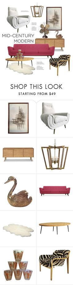 """#midcenturymodern"" by hellodollface ❤ liked on Polyvore featuring interior, interiors, interior design, home, home decor, interior decorating, Joybird, UGG Australia, Westinghouse and modern"