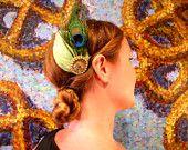 Mint Peacock Fascinator