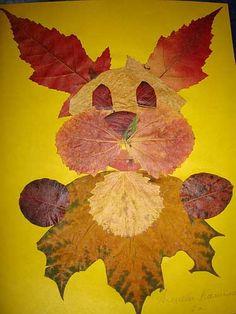 Зайче от есенни листа Autumn Leaves Craft, Crafts For Kids, Arts And Crafts, Pressed Leaves, Leaf Crafts, Dry Leaf, Fall Projects, Leaf Art, Poster Making