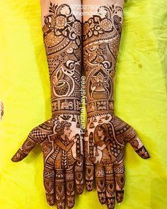 Today's my bridal mahendi Peacock Mehndi Designs, Latest Bridal Mehndi Designs, Full Hand Mehndi Designs, Beginner Henna Designs, Mehndi Designs For Girls, Indian Mehndi Designs, Modern Mehndi Designs, Mehndi Designs For Fingers, Mehndi Design Photos