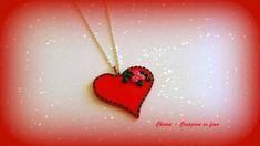 Collana con ciondolo in #fimo elegante #handmade rosso idee regalo san valentino donna , by Chiara - Creazioni in fimo, 10,00 € su misshobby.com
