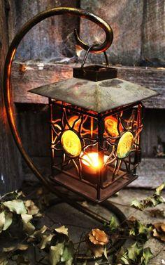 Cool garden lantern. Candlelight