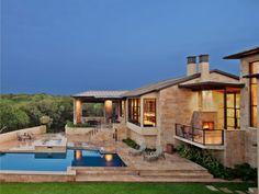 Hill Country Design, very very neat Hill Country Homes, Texas Hill Country, Country Style, Country Living, Style At Home, Villa, Home On The Range, Pool Houses, The Ranch