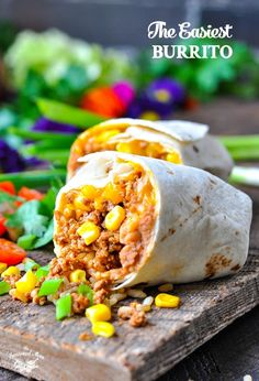 The easiest burrito recipe that's freezer-friendly for quick meal prep! Ground Beef Recipes | Freezer Meals | Dinner Recipes | Dinner Ideas #beef #burritos #freezermeals #mealprep #TheSeasonedMom