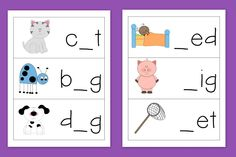 Phoneme Isolation:  Missing Beginning, Middle, Ending Sounds (letters)