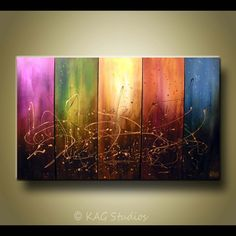 Extra Large Abstract Painting By Kag by kagstudios on Etsy, $399.00