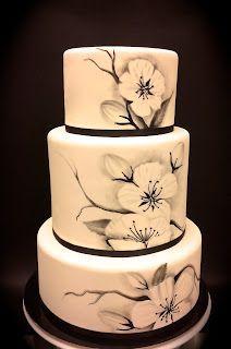 cake wedding paint black - Pesquisa Google