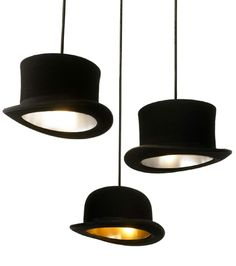 hat lights - how great would that be in a closet or a store?