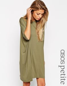 ASOS PETITE The T-Shirt Dress with Short Sleeves ($40)