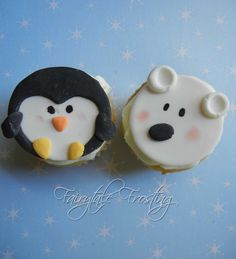 Penguins and Polar Bears Cupcake Toppers. $11.50, via Etsy.