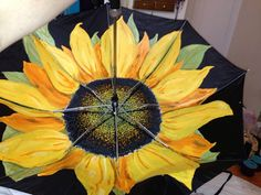 Sunflower Umbrella-Handpainted on Etsy, $40.00