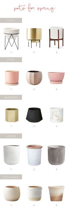 a roundup of pots fo