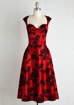 Prove Your Groove Dress in Ruby Roses