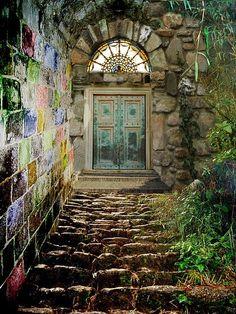 magic, doors, door, beauty, flowers, nature, Secret Garden