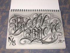 Gangsta Script Font | Boog Norm Tha Union Gangster Chicano Cholo Book Gun Lettering Machine ...