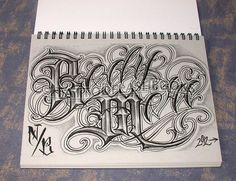 Gangsta Script Font   Boog Norm Tha Union Gangster Chicano Cholo Book Gun Lettering Machine ...