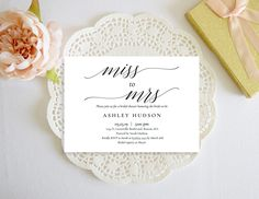Excited to share the latest addition to my #etsy shop: Bridal Shower Invitation Template,Rustic Miss to Mrs Invitation,Calligraphy Bridal Shower Invitation Template,Printable Bridal Shower Invite http://etsy.me/2H8ksZo