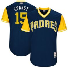"Cory Spangenberg ""Spangy"" San Diego Padres Majestic 2017 Players Weekend Authentic Jersey - Navy"