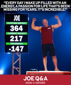 Click on the image to hear more from Joe and see his responses to each question as featured on the Biggest Loser At Home Program! #BiggestLoser #ContestantTips