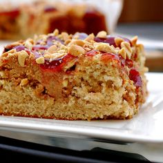 Love PB so this only seems fitting - peanut butter and jelly (jam) cake