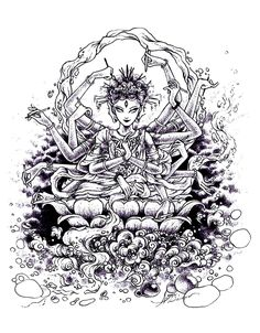 adult zen anti stress india drawing coloring pages printable and coloring book to print for free. Find more coloring pages online for kids and adults of adult zen anti stress india drawing coloring pages to print. Tachisme, Coloring Book Pages, Printable Coloring Pages, Pop Art, Graffiti, Fabric Painting, Oeuvre D'art, Anti Stress, Drawings