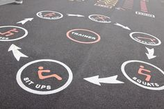Our Fitness Trails are great thermoplastic playground markings for both break and lesson times. PRODUCT SHOWN: TM137 Fitness Trail Two